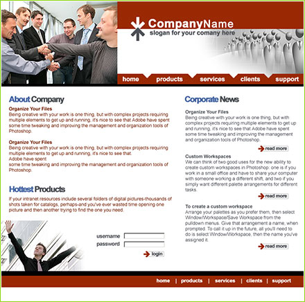 Company profile free website template flashek Gallery